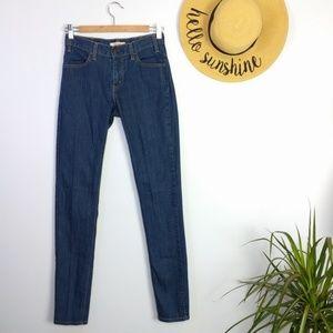 Levi's 1966 Skinny Dark Wash Jeans 25 / 0